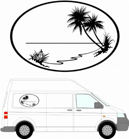 (No.113) Camper Van Graphics, Motor Home Vinyl Graphics Kit, Decals / Stickers.